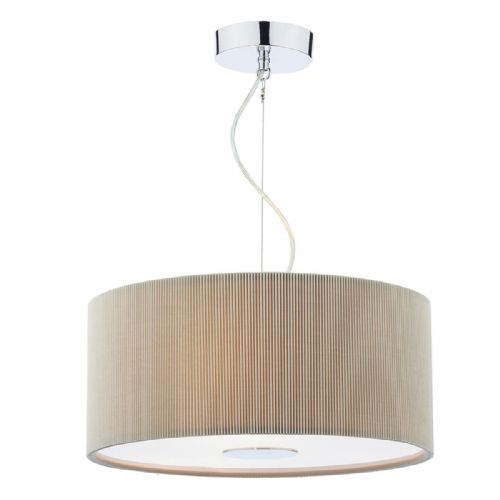 Maurice 3 Light Pendant 400MM Micropleat Putty MAU1039